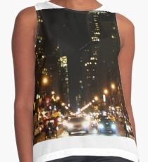 City Lights in New York City Contrast Tank