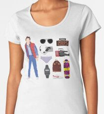 Back to the Future : Time Traveler Essentials 1985 Women's Premium T-Shirt