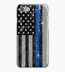 Thin Blue Line Flag iPhone Case/Skin