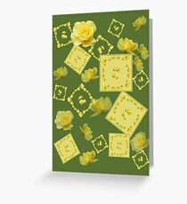 Yellow Rose Boquet Greeting Card