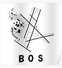 Boston Logan Airport Diagram Poster