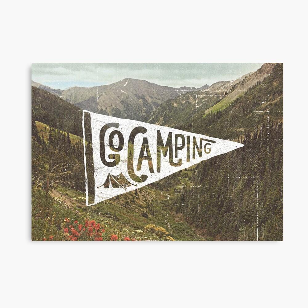 Go Camping Canvas Print