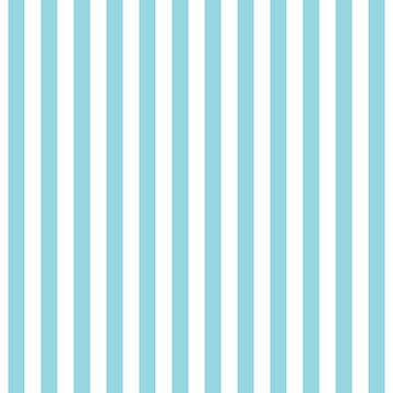 Large Sky Blue and White Vertical Cabana Tent Stripes by podartist