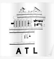 Atlanta Hartsfield Airport Diagram Poster