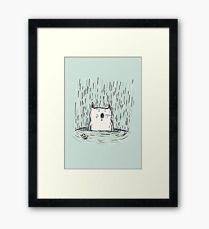 Soggy Cat Framed Print