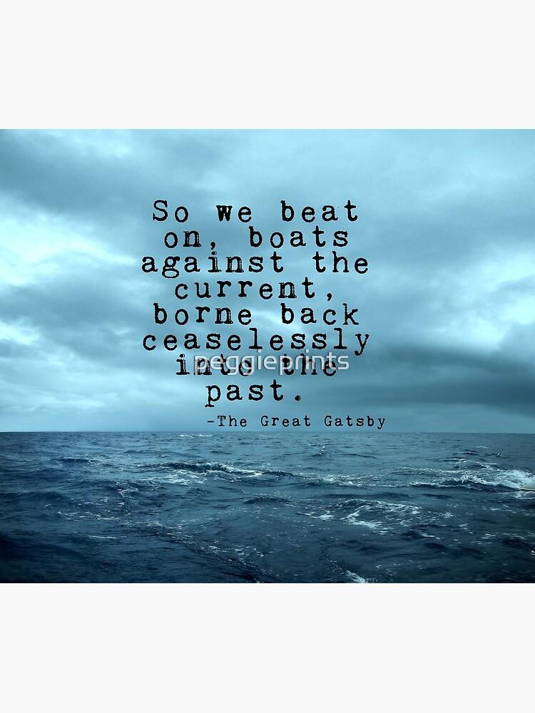 Donc Nous Avons Battu Gatsby Citation Sur L Océan Noir Impression Photo