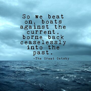 So we beat on - Gatsby quote on the dark ocean by peggieprints