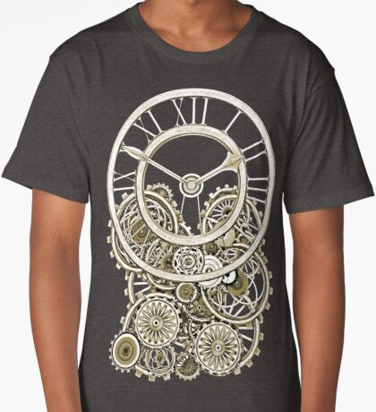 Stylish Vintage Steampunk Timepiece Vintage Style Steampunk T-Shirts Long T-Shirt