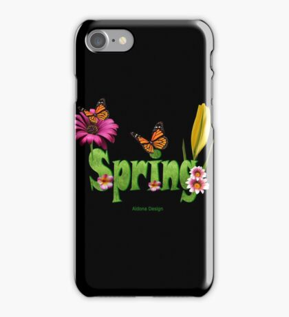 Spring text (4182 views) iPhone Case/Skin