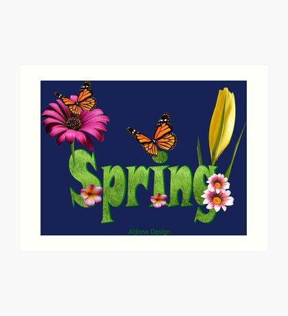 Spring text (4224 views) Art Print