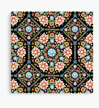 Millefiori Floral Canvas Print