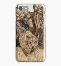 Smilodon & Titanoboa iPhone Case/Skin