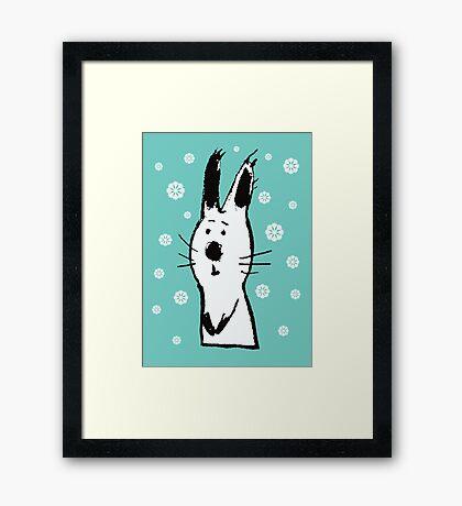 Snow Rabbit Framed Print