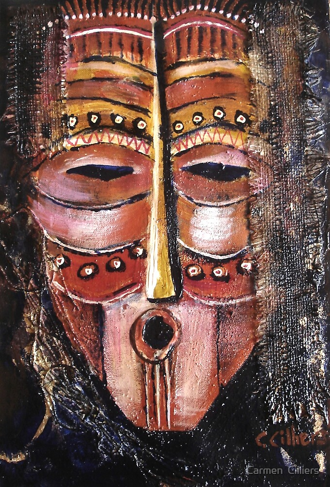 Warrior Mask by Carmen  Cilliers