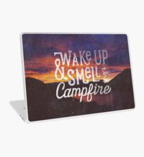 wake up & smell the campfire Laptop Skin