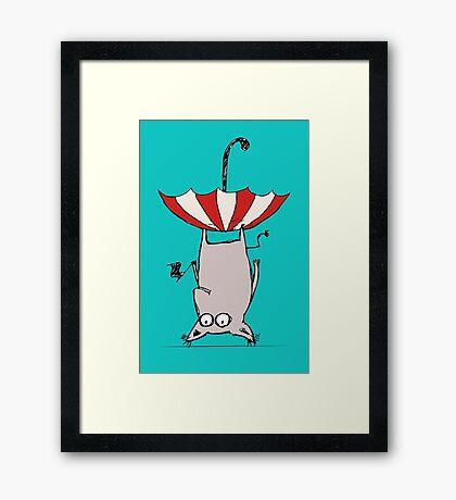 Upside Down Animal  Framed Print