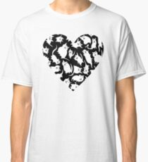 Crazy Cat Heart  Classic T-Shirt