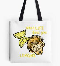 """Rickety Cricket """"When Life Gives You Lemons"""" Tote Bag"""