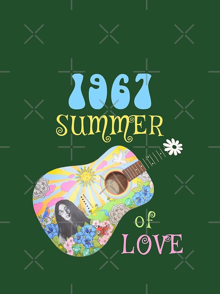 1967 Summer of Love Hippie T-shirt by transferarts