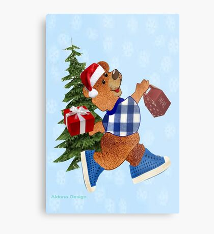 Teddy with gifts [ 2512 views] Metal Print