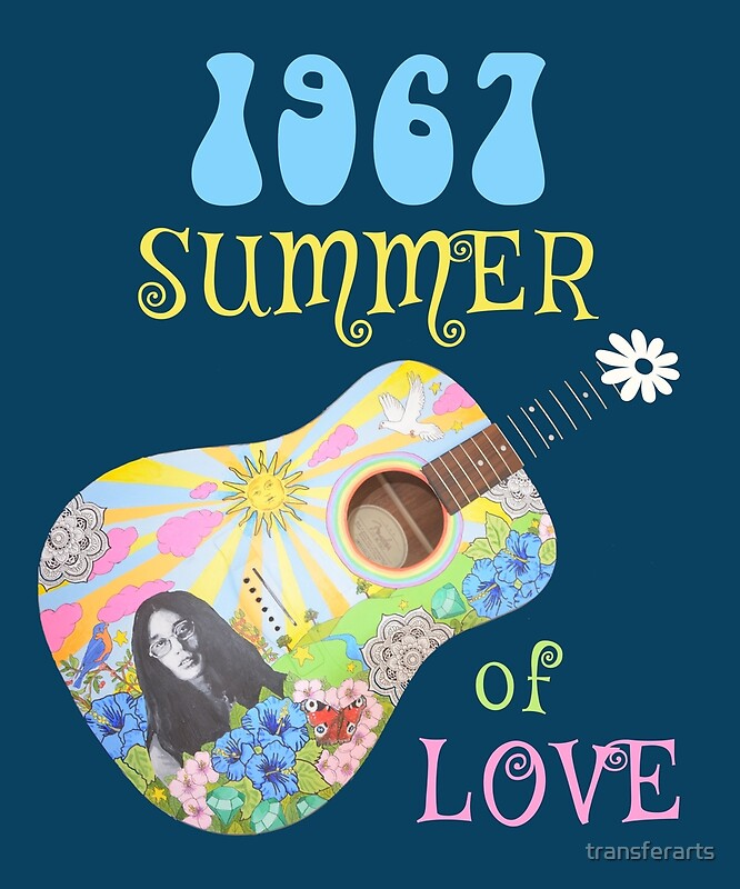1967 summer of love hippie t shirt posters by transferarts redbubble. Black Bedroom Furniture Sets. Home Design Ideas