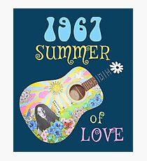 1967 Summer of Love Hippie T-shirt Photographic Print