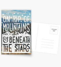 On Top Of Mountains Postcards