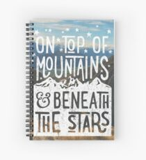 On Top Of Mountains Spiral Notebook