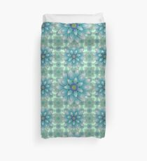 Embroidered blue & green Duvet Cover