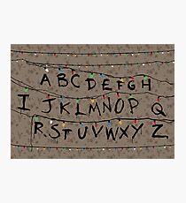Stranger Things - Alphabet Lights Photographic Print
