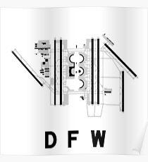 Dallas/Fort Worth Airport Diagram Poster