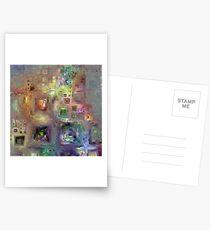 Crystalline Squares 8 Postcards