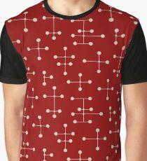 Midcentury Modern Dots 50 Graphic T-Shirt
