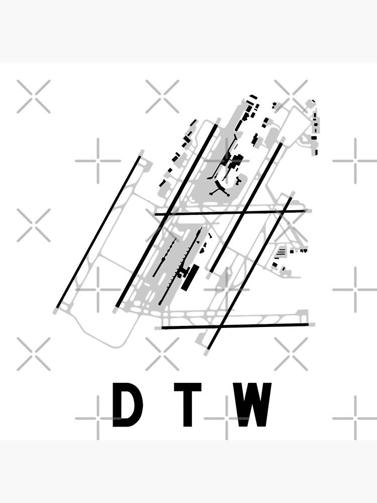 Detroit Airport Diagram Canvas Print By Vidicious