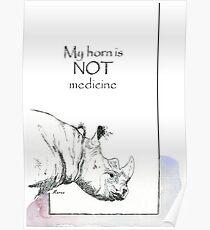 Rhino horn myth Poster