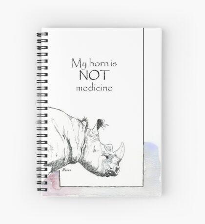 Rhino horn myth Spiral Notebook