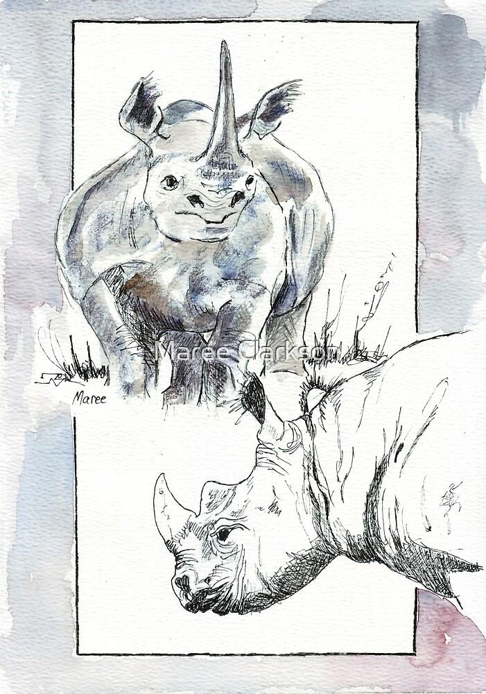 Rhino Study - The Unpardonable Crime by Maree Clarkson