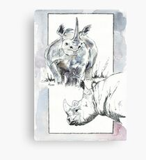 Rhino Study - The Unpardonable Crime Canvas Print
