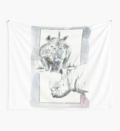 Rhino Study - The Unpardonable Crime Wall Tapestry