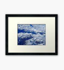 Blue Snow Mountain Range Framed Print