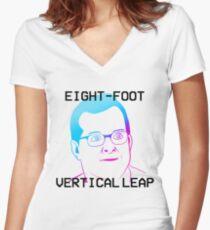 MBMBaM - EIGHT-FOOT VERTICAL LEAP Women's Fitted V-Neck T-Shirt