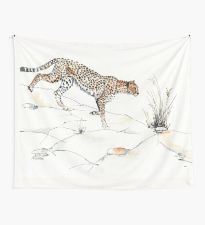 Majestic Cheetah Wall Tapestry