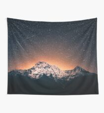 Star Mountain Milky Way Night Wall Tapestry