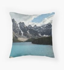 Rocky Mountains Blue Lake National Park Throw Pillow