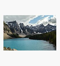 Rocky Mountains Blue Lake National Park Photographic Print
