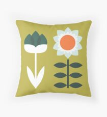 Set Sun Olive Throw Pillow