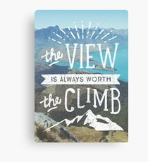 WORTH THE CLIMB Canvas Print