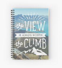 WORTH THE CLIMB Spiral Notebook