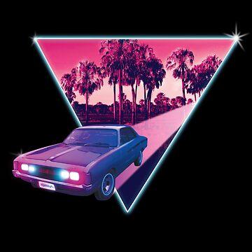 Nighdrifter retro wave car by Cybercitypunk