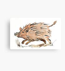 Warthog sketch Canvas Print